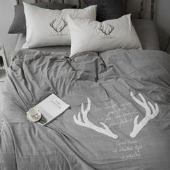 Petrie - Bedding Set: Antler Duvet Cover + Bed Sheet + Pillowcases