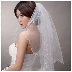 Sky n Sea - Embellished Wedding Veil