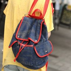 SO Central - Flap-Pocket Denim Backpack