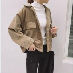 Bloombloom - Cropped Corduroy Jacket