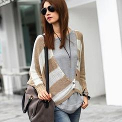 SO Central - Batwing-Sleeve Striped Cardigan