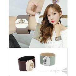 soo n soo - Twist-Lock Genuine-Leather Bracelet