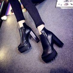 Sunsteps - Platform Block Heel Ankle Boots