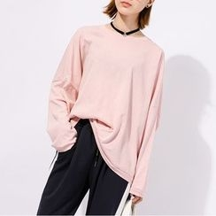 Heynew - Long-Sleeve Plain Plain T-Shirt