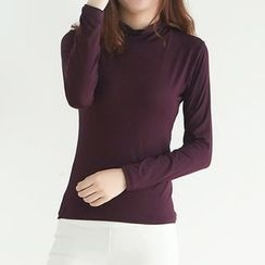 camikiss - Mock-neck Long-Sleeve Top