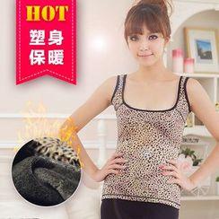 Giselle Shapewear - Fleece Lined Leopard Print Tank Top