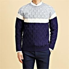 THE COVER - Crew-Neck Color-Block Sweater