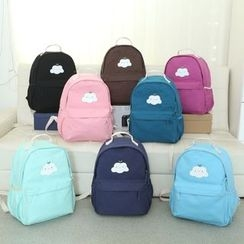 Gardenia - Applique Canvas Backpack