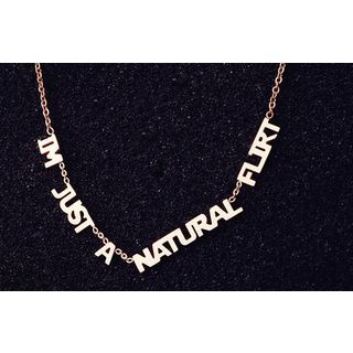 Nanazi jewelry im just a natural flirt necklace