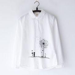 布丁坊 - 印花衬衫