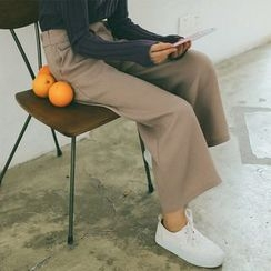 SUYISODA - Plain Wide-leg Pants