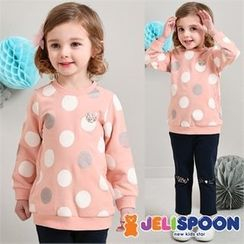 JELISPOON - Girls Set: Polka-Dot Sweatshirt + Pants