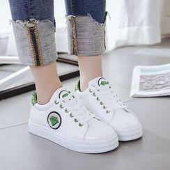 Sunsteps - Glittered Platform Sneakers