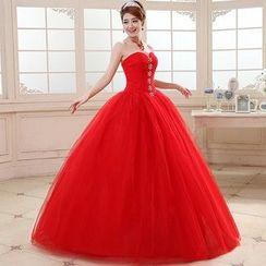 Milenio - Strapless Rhinestone Ball Gown