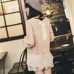 Tokyo Fashion - Bow-Back Lace-Panel Tunic