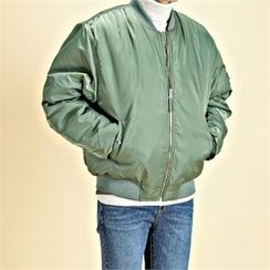 THE COVER - Zip-Up Padded Flight Jacket
