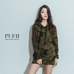PUFII - Camouflage Hooded Pullover