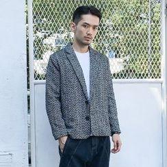 Dubel - Herringbone Button Jacket