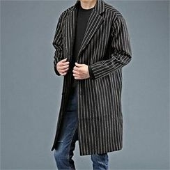THE COVER - Single-Breasted Striped Coat
