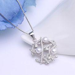 Zundiao - 純銀珍珠吊墜