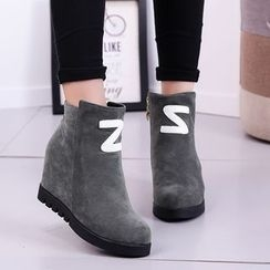 Wello - Hidden Wedge Ankle Boots