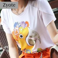 Zyote - Short-Sleeve Print T-Shirt