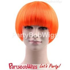 Party Wigs - PartyBobWigs - 派对BOB款短假发 - 萤光橙