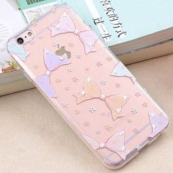 Kindtoy - Rhinestone Pattern iPhone 6 / 6S / 6 Plus Case