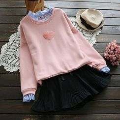 YOYO - Fleece-Lined Frilled Pullover
