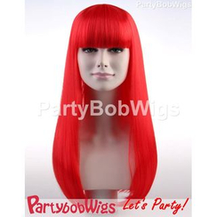 Party Wigs - PartyBobWigs - Party Long Bob Wig - Red