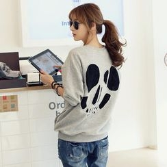 REDOPIN - Skull-Back Drop-Shoulder Pullover