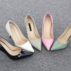DANI LOVE - Pointy-Toe Patent Pumps