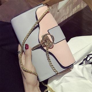 Aishang - Color Block Shoulder Bag
