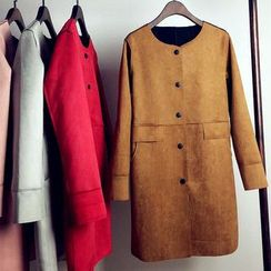 Lovebirds - Faux-Suede Trench Coat