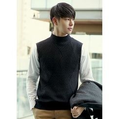 JOGUNSHOP - Mock-Neck Knit Vest