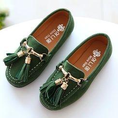 绿豆蛙童鞋 - 童装吊苏乐福鞋