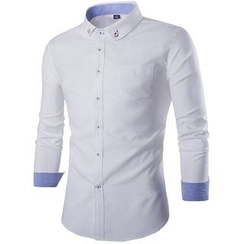 Bay Go Mall - Long-Sleeve Oxford Shirt