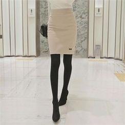 TOM & RABBIT - Brushed-Fleece Pencil Skirt