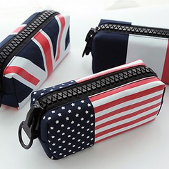 Class 302 - Flag Print Pencil Case