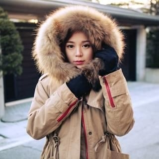 TISVIN - Faux Fur-Trim Hooded Drawstring-Waist Parka