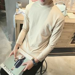 SICRIT - Panel Mock-neck Long-Sleeve T-shirt