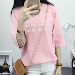 Fashion Street - Letter Short-Sleeve T-shirt