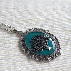 MyLittleThing - Silver Tree Necklace (Green)