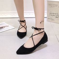Sleeko - Lace-Up Flats