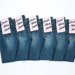 chuu - Distressed Skinny -5kg Jeans