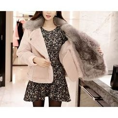 Marlangrouge - Faux-Fur Faux-Shearling Jacket