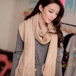 Cuteberry - Fringed Cashmere Scarf