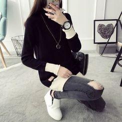 Qimi - 插色毛衣