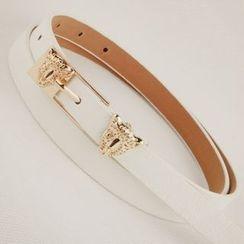 Goldenrod - Leopard Skinny Belt