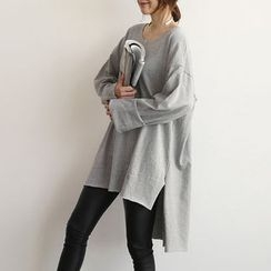 NANING9 - Cotton Oversized Pullover